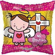 """18"""" Angel Vitral Rosa Bautizo Balloon"""