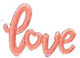 """47"""" Rose Gold Love Script Shape Balloon (Airfill Only)"""