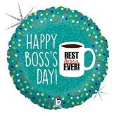 "18"" Holographic Balloon Boss's Day Coffee Mug"