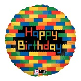 "18"" Birthday Blocks Balloon"
