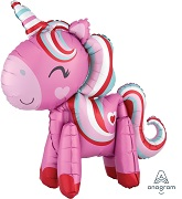"""22"""" Standing Airfill Only Magical Unicorn Multi Foil Balloon"""
