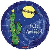 """18"""" Feliz Navidad Cactus"""