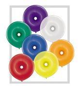 "16"" Geo Donut Latex Balloons (50 Count) Jewel Assort"