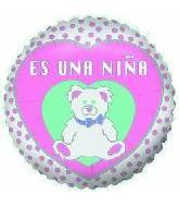 "4"" Airfill Only Balloon Es Una Nina"