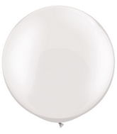 "30""  Qualatex Latex Balloons  Pearl WHITE 02CT"