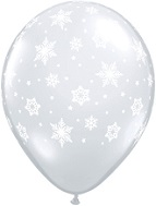 "11"" Snowflakes Around Clear  (50 Count)"