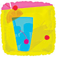 "18"" Summer Fun Cool Drink Q-Balloon"