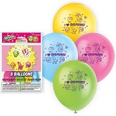 """12"""" 8 Count Shopkins Balloons 2 Sided"""