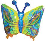 "34"" Fantasy Butterfly Mylar Balloon Packaged"