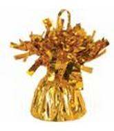 6OZ Yellow  Gold Foil Wrapped Balloon Weight