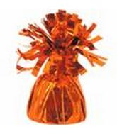 6OZ Orange Foil Wrapped Balloon Weight