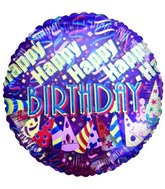 "4"" Airfill Happy Birthday Party Hat Balloon"