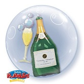 "24"" Double Bubble Celebration Champagne Balloon"