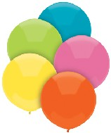 "17"" Outdoor Balloons (72 Count) Tropical Assortment"