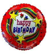 "9"" Airfill Happy Birthday Stars Rainbow Balloons"