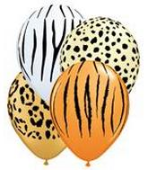 "11"" Jungle Assortment Latex Balloons 50 Count"