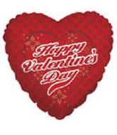 """18"""" Happy Valentine's Day Flower Checker"""