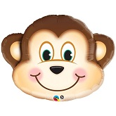 "35"" Mischievous Monkey Jumbo Mylar Balloon"