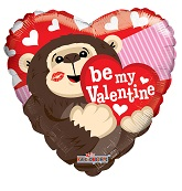"18"" Be My Valentine Gorilla Balloon"