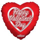 "18"" Valentine's Hearts Wreath Balloon"