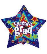 "36"" Stars Congrats Grad Balloon"