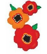 """50"""" Stacked Poppies"""