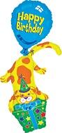 """45"""" Happy Birthday Puppy Stacker"""
