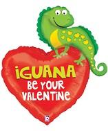"37"" Iguana Be Your Valentine"