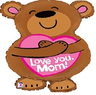 "28"" Shape Big Hug Love You Mom Balloon"