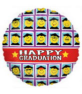 "18"" Smiley Grad Class Balloon"
