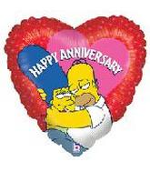 "18"" Simpsons Anniversary Heart Mylar Balloon"