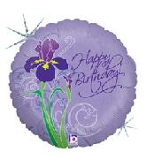 """18"""" Iris Happy Birthday Balloon Holographic"""