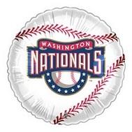 """9""""  Airfill Baseball Washington Nationals Balloon"""