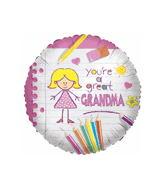 "18"" Great Grandma Mylar Balloon"