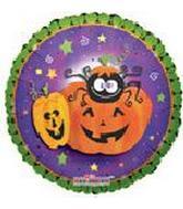 """18"""" Pumpkin & Crazy Spider"""