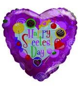 "18"" Happy Sweetest Day Sugar Treats Pink Heart Balloon"