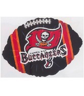 "9"" Airfill Only NFL Balloon Tampa Bay Buccaneers"