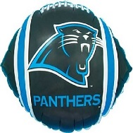 "9"" Airfill Only NFL Balloon Carolina Panthers"