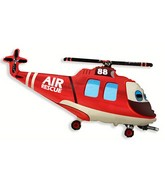 "24"" Red Rescue Helicopter Shaped Balloon"