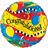 "36"" Congratulations Balloons & Streamers"