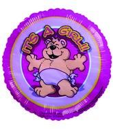 """4"""" Airfill Girl Bear W/Diaper Balloon"""