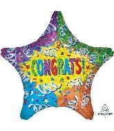 "28"" Jumbo Congrats Streamer Explosion Balloon"