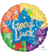 "28"" Jumbo Good Luck Confetti Streamers Balloon"