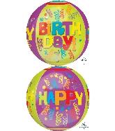 "16"" Orbz Jumbo Happy Happy Birthday Balloon"