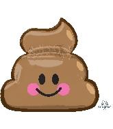 """25"""" Jumbo Emoticon Poop Balloon"""