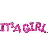Airfill Phrase IT's A Girl (Pink) Balloon