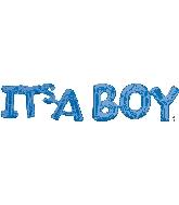Airfill Phrase IT's A Boy (Blue) Balloon