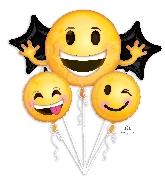 Bouquet Balloon Emoticon Smiles Balloon