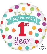 """18"""" Baby's 1st Year Balloon"""