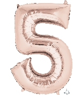 "33"" Jumbo Number 5 Rose Gold Balloon"